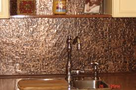 Copper Backsplash Kitchen Kitchen Cool Diy Faux Tin Kitchen Backsplash With Vase Top 12