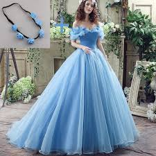cinderella wedding dresses deluxe cinderella wedding dress blue bridal gown the shoulder