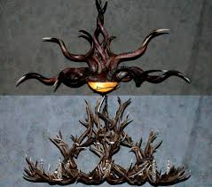 Antler Chandelier Net Decor Gorgeous Interesting Crystal Antler Chandelier With Deer