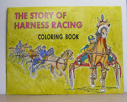 harness horse racing vintage coloring book the story of