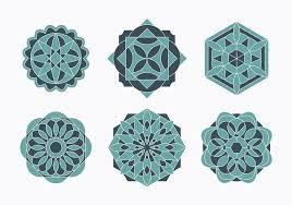 islamic ornaments set free vector stock graphics