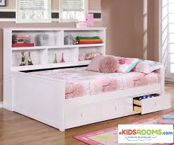 white solid wood bookcase full size bookcase captains daybed white allen house kids