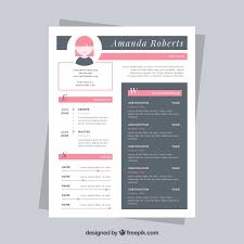 Cute Resume Templates Free Nice Resume Template Vector Free Download