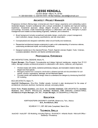 Project Architect Resume Sample 1 Page Resume