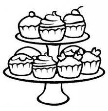 free printable cupcake coloring pages for kids with coloring pages