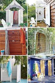 How To Build An Outdoor Shower Enclosure - 103 best diy outdoor shower images on pinterest outdoor showers