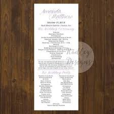 wedding ceremony programs exles the 25 best wedding program exles ideas on wedding
