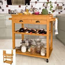servierwagen küche xxxl servierwagen aus hochwertigem bambus küchenwagen küchenregal