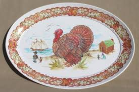 thanksgiving platter turkey platter vintage brookpark melmac thanksgiving platter