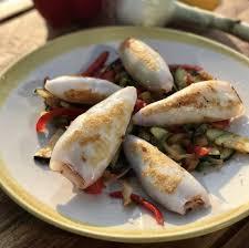 cuisiner des calamars ma recette de calamars ratatouille express à la plancha laurent