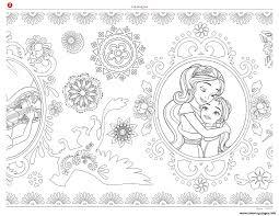 mandala zentagle disney elena of avalor coloring pages printable