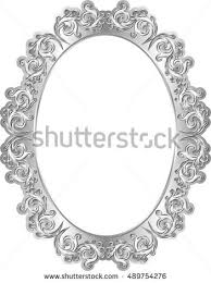 isolated silver frame vintage ornaments stock vector 489754276