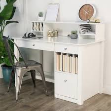 Writing Desk With Drawer by White Computer Desks You U0027ll Love Wayfair