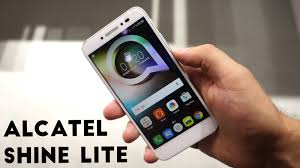 alcatel shine lite hands on youtube