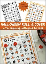 Printable Halloween Game by Preschool Roll U0026 Cover Halloween Math Game Where Imagination Grows