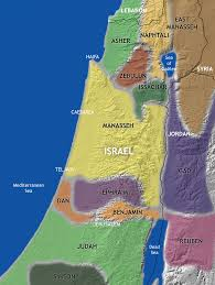 Map Of Israel Ancient Tribes Of Israel
