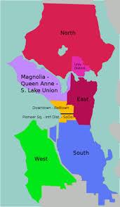 seattle map by district talk seattle wikitravel