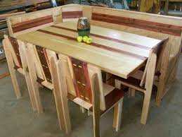 buy a hand crafted maple and red cedar dining set trestle table