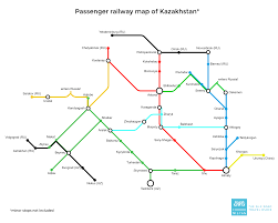 China Train Map by Train In Kazakhstan Caravanistan