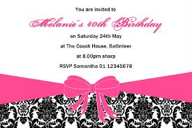 18th Birthday Invitation Card Personalised Birthday Invitation Design 1
