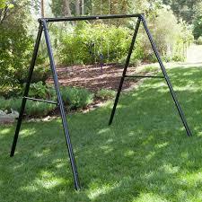 Flexible Flyer Backyard Swingin Fun Metal Swing Set Flexible Flyer World Of Fun Metal Swing Set Hayneedle
