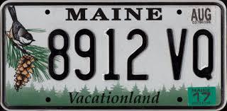 Maine Vanity License Plates Maine