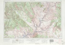 Topographical Map Of Utah by Escalante Topographic Maps Ut Usgs Topo Quad 37110a1 At 1