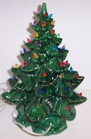 vintage lighted bulbs ceramic tree atlantic mold green
