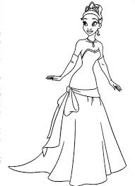 Little Tiana And Her Parents In Princess And The Frog Disney Story Princess And The Frog Colouring Pages