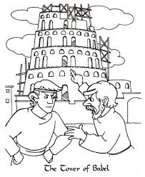 tower of babel coloring pages 7 intended for tower of babel