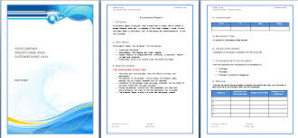 10 best images of business report templates microsoft word