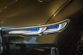 bmw laser headlights bmw debuts the x7 iperformance and m5 in the heart of toronto