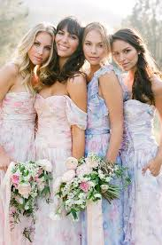 print bridesmaid dresses pastel floral print bridesmaid dresses by pps couture southbound