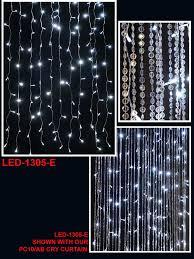 Led Light Curtains Curtain Led Light Strands 12ft Long 288 Lights Wedding Decor Direct