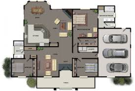 Simple Three Bedroom House Plan 2 Story Floor Plans Without Garage Small Three Bedroom House