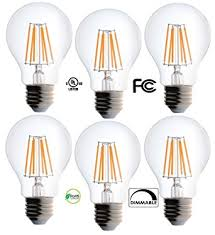 bioluz led clear edison style dimmable filament light bulb 60