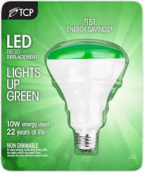tcp br30 green led flood light bulb 65w equivalent