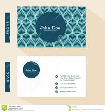 back business card floral business card design stock illustration image 58372865