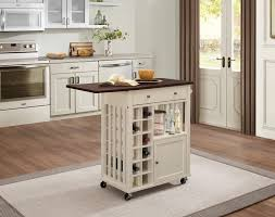 Kitchen Island Cart With Drop Leaf Homelegance Canela Kitchen Cart With Drop Leaf And Casters 4697cm