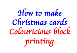 how to make christmas cards with block printing youtube