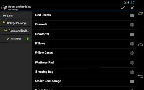 College Toiletries Checklist College Packing Checklist Free Android Apps On Google Play