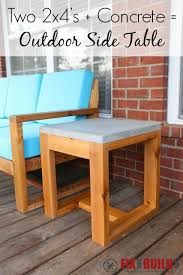 Wood Patio Side Table Best 25 Rustic Outdoor Side Tables Ideas On Pinterest Modern