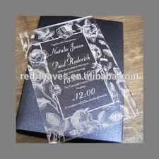 wedding invitations prices acrylic engraved letter wedding invitation card glass wedding