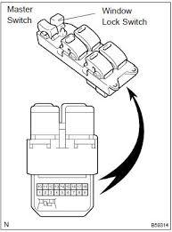 toyota corolla repair manual inspection power window control