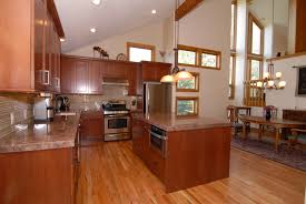 Laminate Flooring In Kitchens Beautiful U Shaped Kitchen Designs With Wooden Cabinets And