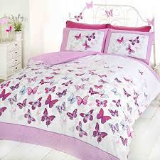 Size Double Bed Butterfly Duvet Set Pink Double Bed Size Bedding Cover Set
