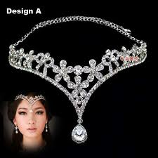 hair jewelry fashion tiara crown hair accessories for wedding
