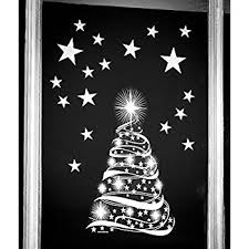 Images Of Christmas Window Decorations by Star Tree With Stars Window Cling Stickers Seasonal Christmas