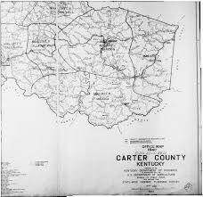 Ky County Map 1940 Carter County Map
