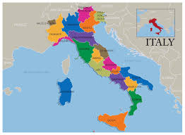 Blank Map Of Italy by Large Map Of Italy With Regions Deboomfotografie